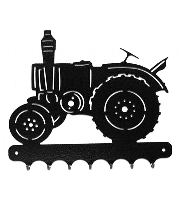 Accroche-clés, décor en métal, Tracteur Vierzon Vue de gauche
