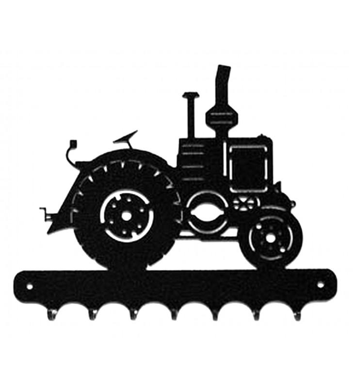Accroche-clés, décor en métal, Tracteur Vierzon