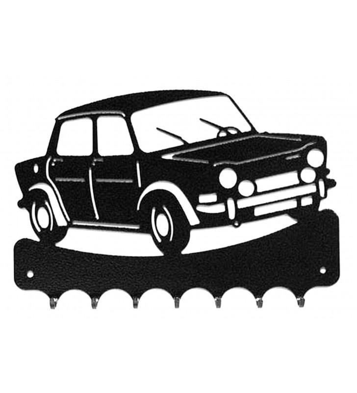 Accroche-clés, décor en métal, Simca 1000 Rallye 2