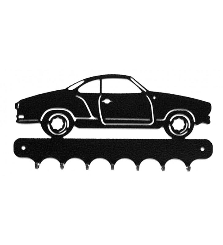 Accroche-clés, décor en métal, Vokswagen Karmann Ghia Type 14