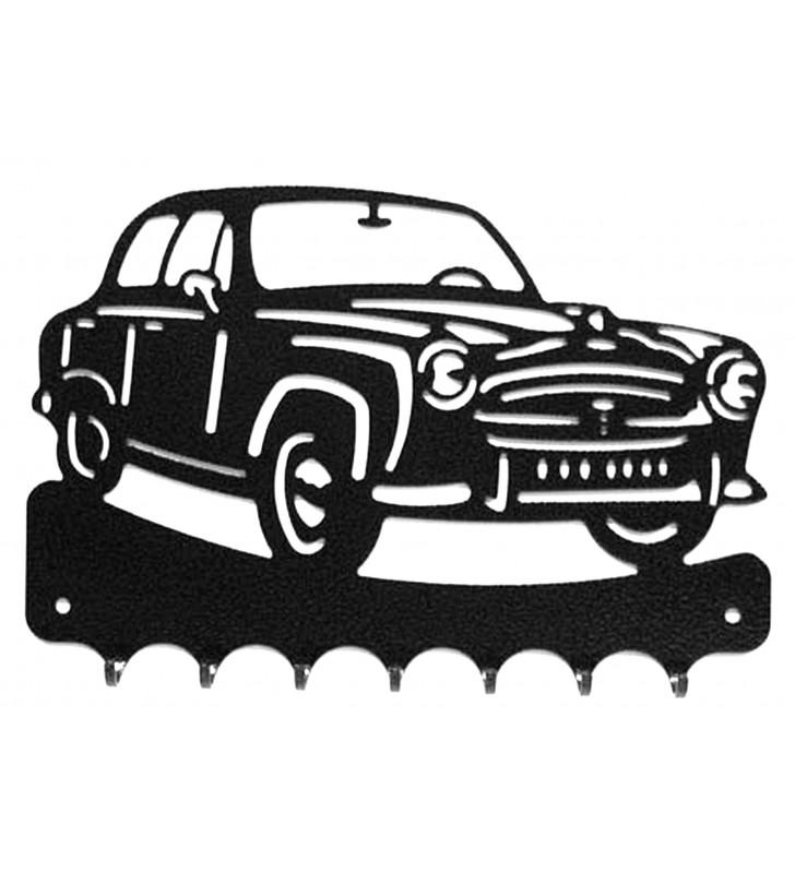Accroche-clés, décor en métal, Peugeot 403