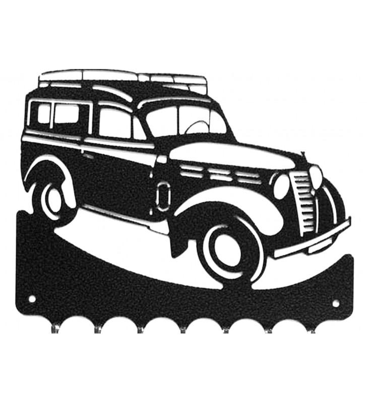 Accroche-clés, décor en métal, Renault Juva 4