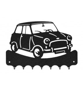 Accroche-clés, décor en métal, Austin Mini