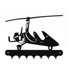 Accroche-clés, décor en métal, Autogire