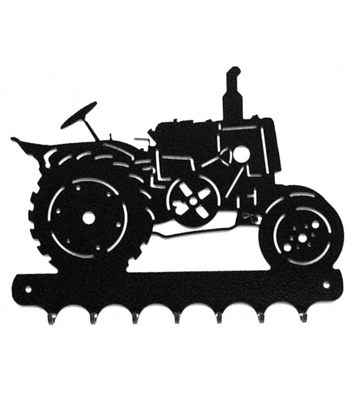 Accroche-clés, décor en métal, Tracteur Vierzon Vue de droite