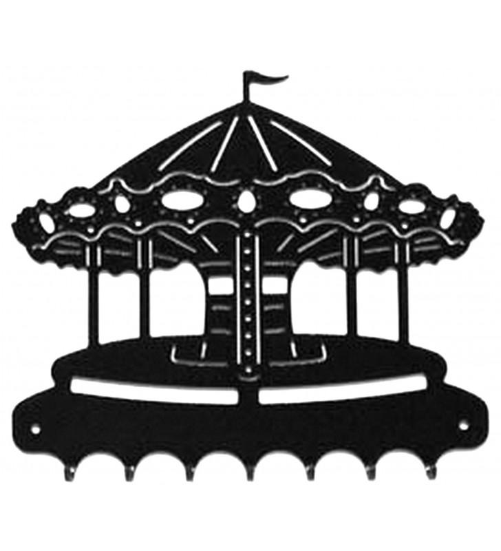 Accroche-clés, décor en métal, Carrousel