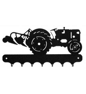 Accroche-clés, décor en métal, Tracteur Ford