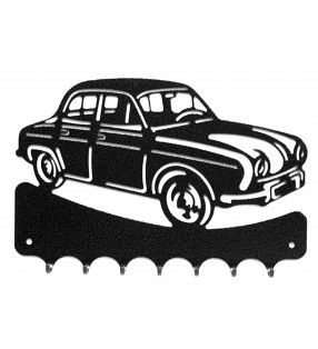 Accroche-clés, décor en métal, Renault Dauphine