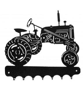 Accroche-clés, décor en métal, Tracteur Farmall