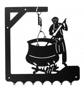 Accroche-clés, décor en métal, Fromager