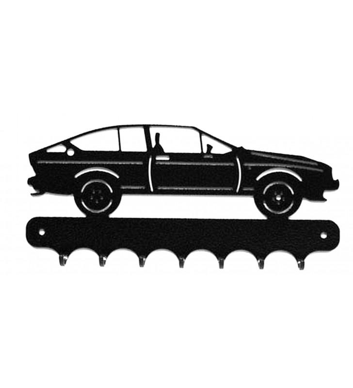 Accroche-clés, décor en métal, Alfa Romeo GTV V6