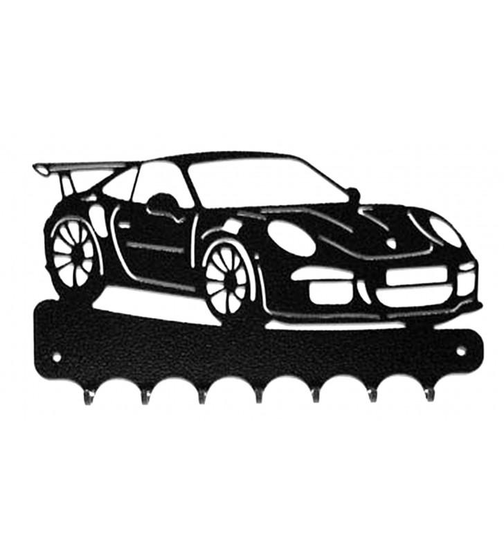 Accroche-clés, décor en métal, Porsche 911 GT3 RS