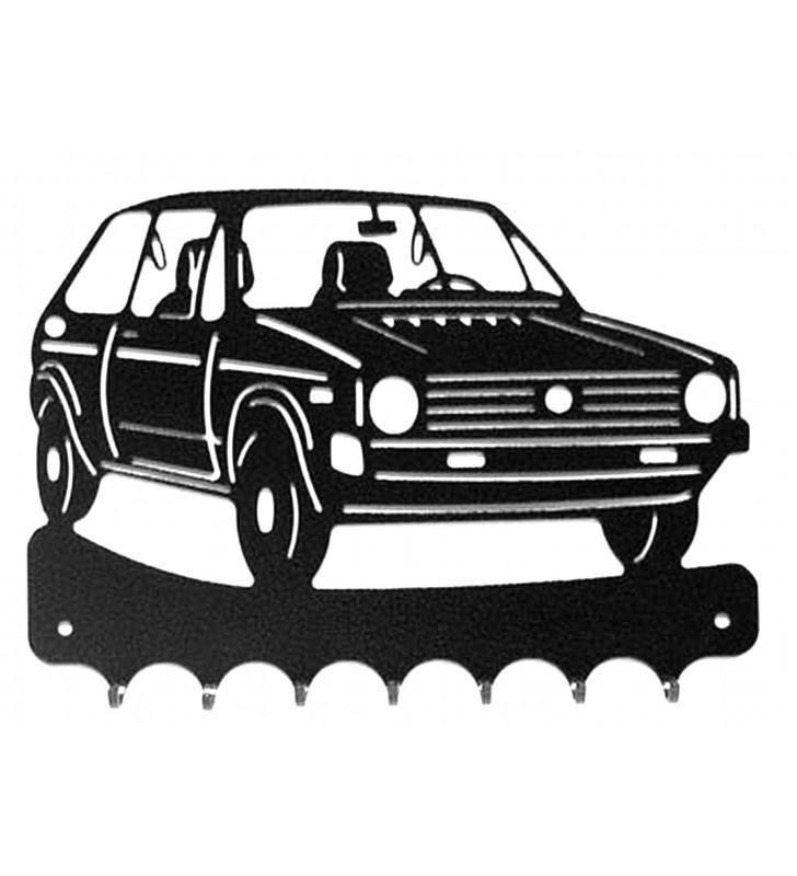 Accroche-clés, décor en métal, Vokswagen Golf