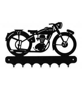 Accroche-clés, décor en métal, motobécane
