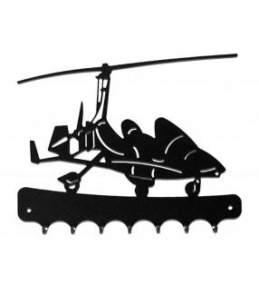 Accroche-clés, décor en métal, Autogire Magni M22