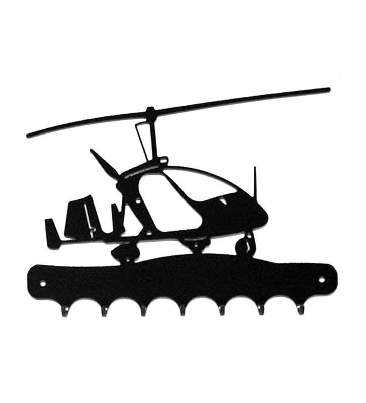 Accroche-clés, décor en métal, Autogire Magni M24