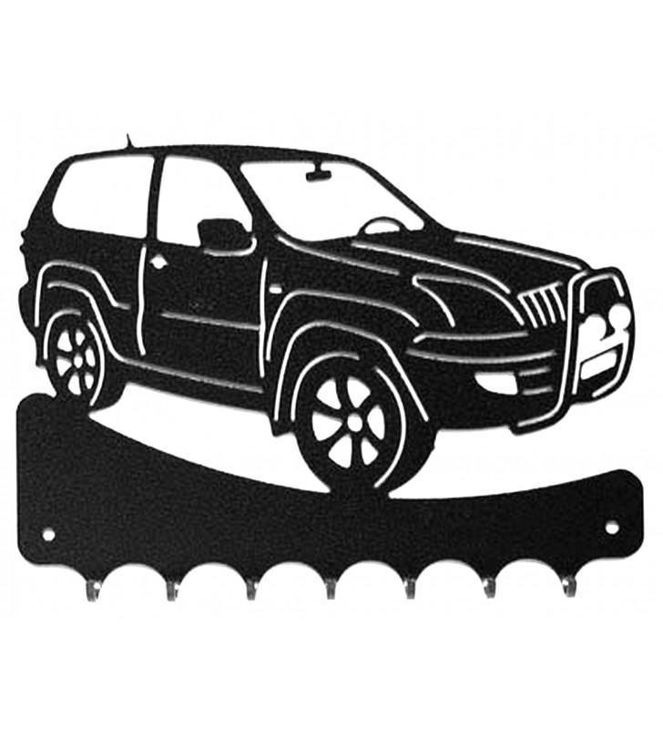 Accroche-clés, décor en métal, 4x4 Toyota