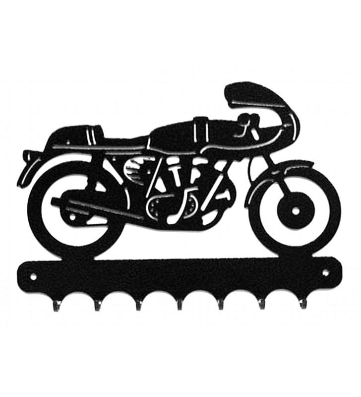 Accroche-clés, décor en métal, moto Ducati