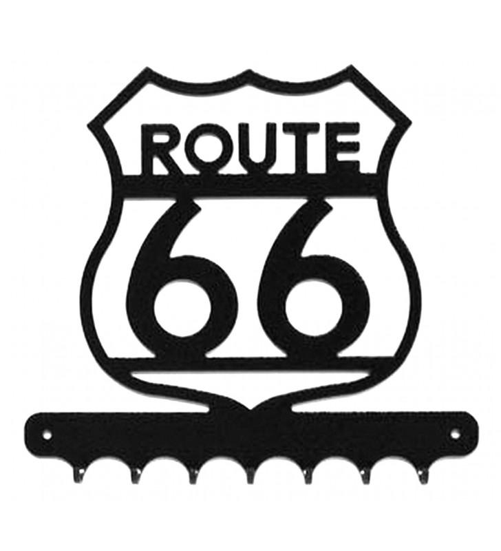 Accroche-clés, décor en métal, Route 66