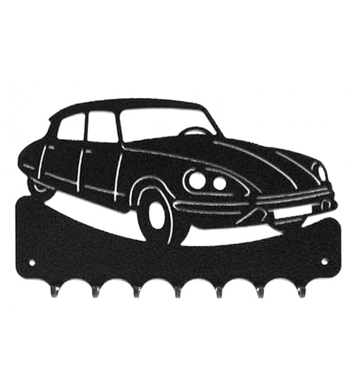 Accroche-clés, décor en métal, DS Citroën