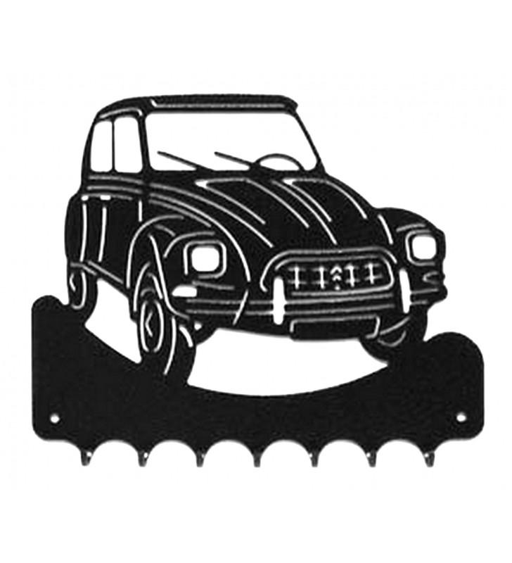 Accroche-clés, décor en métal, Dyane Citroën