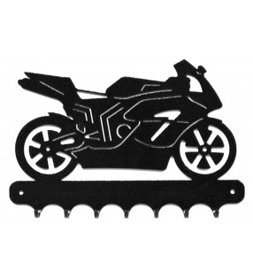 Accroche-clés, décor en métal, moto Honda Repsol