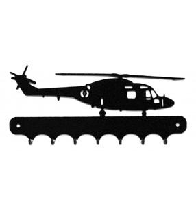 Accroche-clés, décor en métal, Hélicoptère Lynx