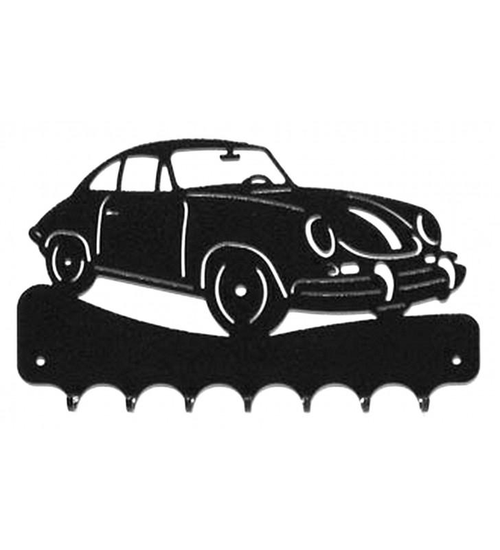Accroche-clés, décor en métal, Porsche 356