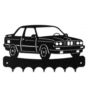 Accroche-clés, décor en métal, BMW E30