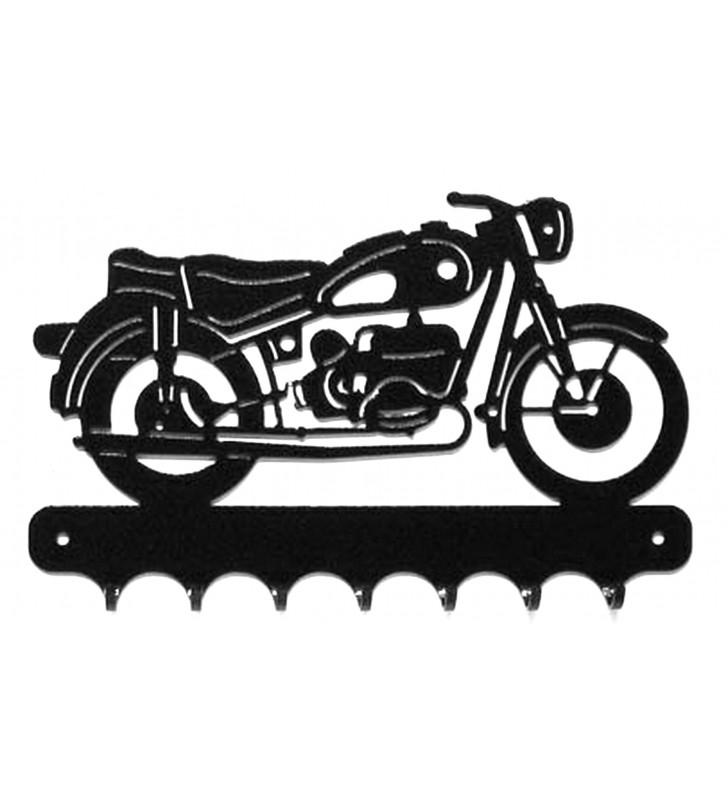 Accroche-clés, décor en métal, moto BMW R69S
