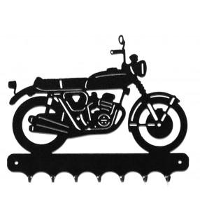 Accroche-clés, décor en métal, moto Honda 750