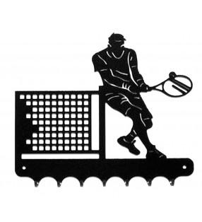 Accroche-clés, décor en métal, Tennisman