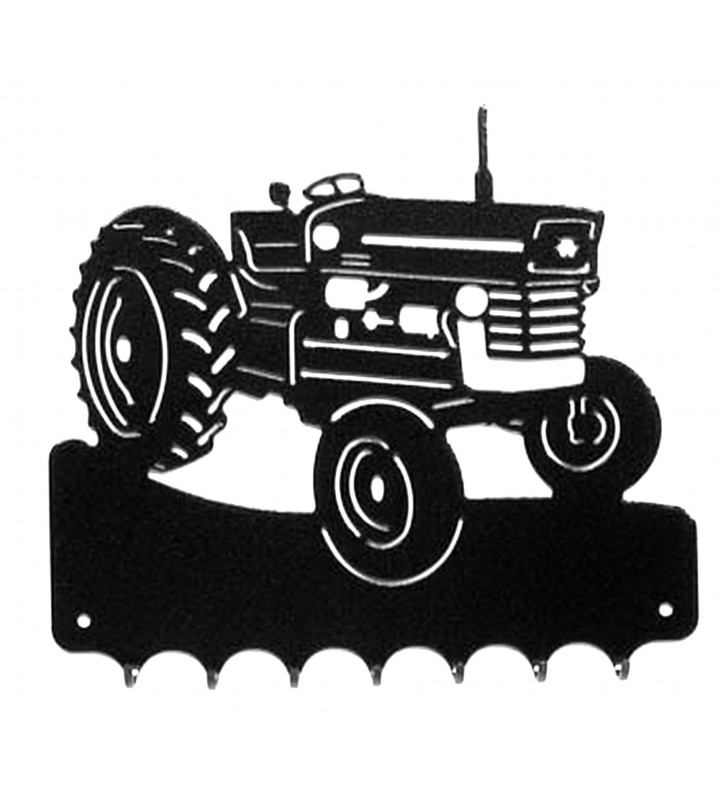 Accroche-clés, décor en métal, Tracteur Massey Ferguson 135