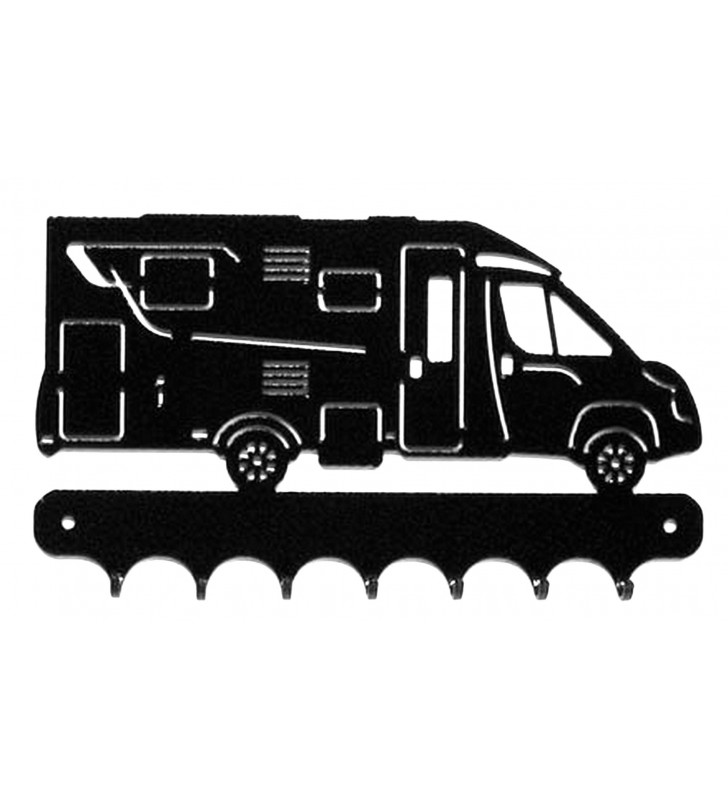 Accroche-clés, décor en métal, Camping-Car profilé