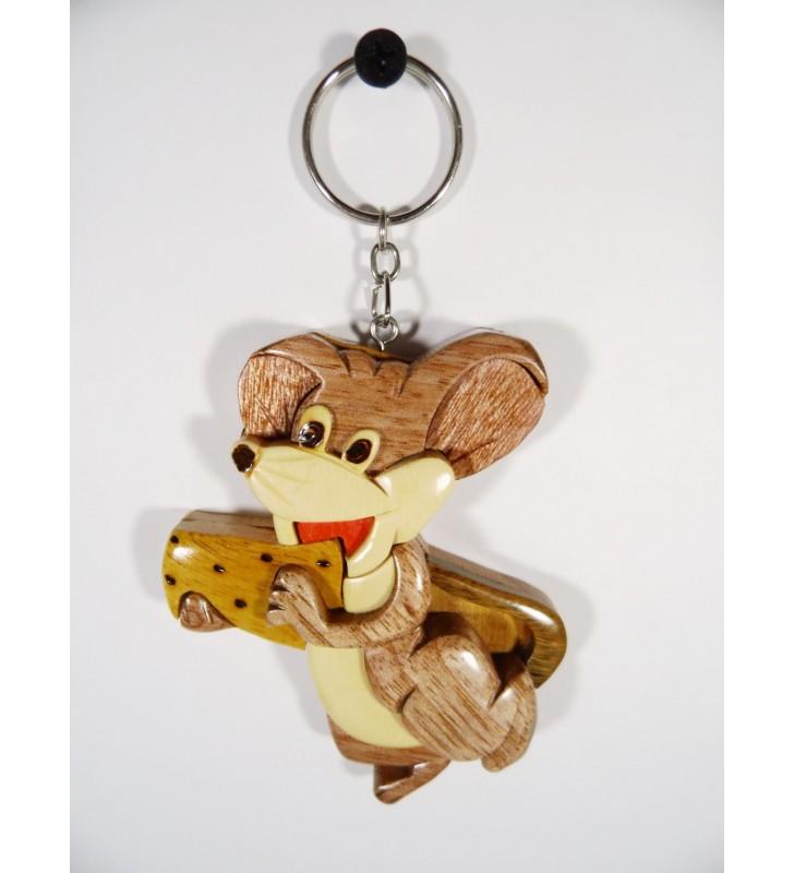 Porte-clés en bois décoratif, Souris