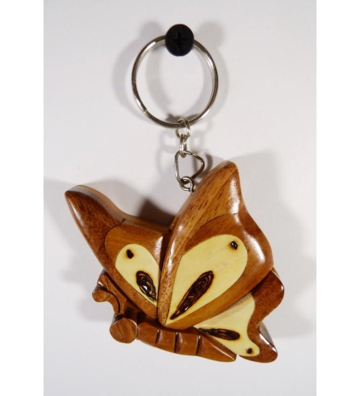 Porte-clés en bois décoratif, Papillon
