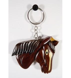 Porte-clés en bois décoratif et original, Cheval