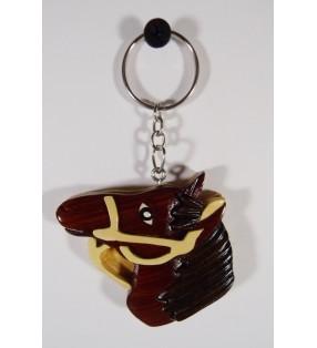 Porte-clés en bois décoratif, Tête de cheval