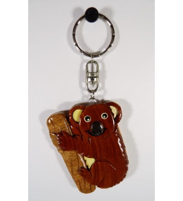 Porte-clés en bois décoratif, Koala