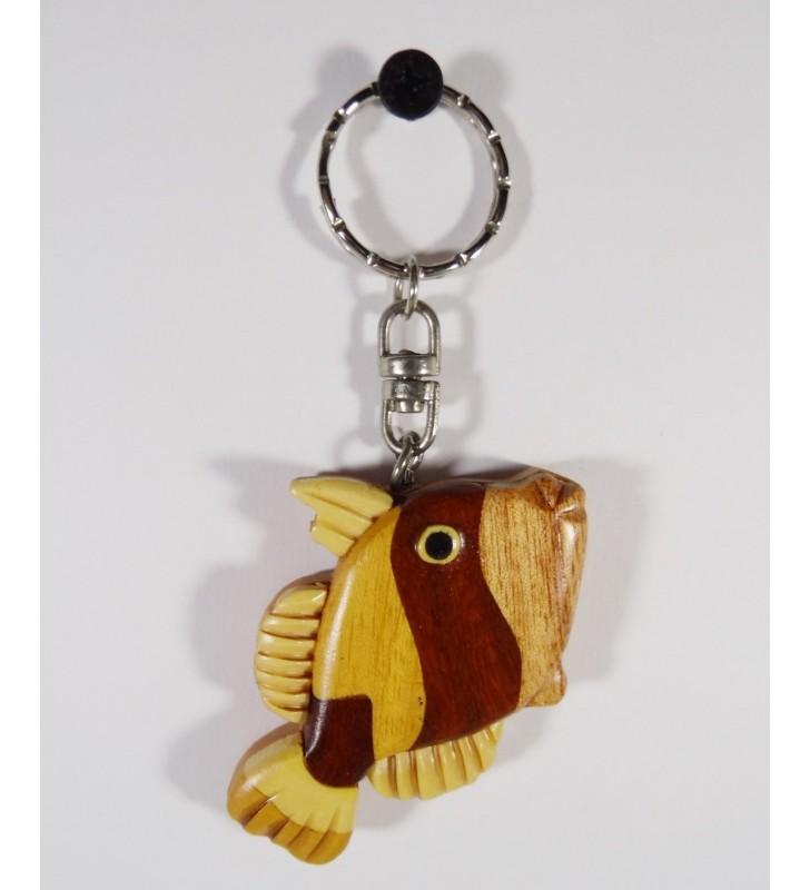 Porte-clés en bois, Poisson