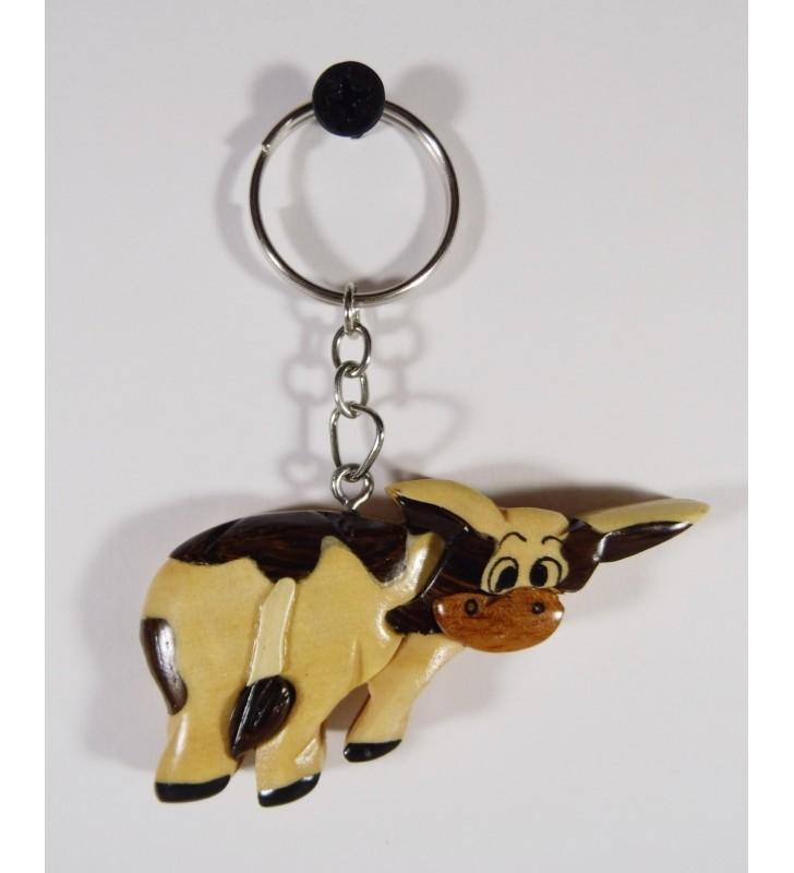 Porte-clés en bois décoratif, Vachette