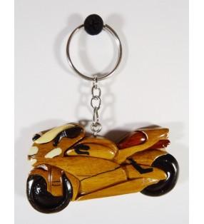 Porte-clés en bois décoratif, Moto Ducati