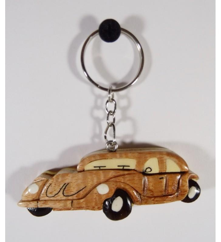 Porte-clés en bois décoratif, Voiture Traction
