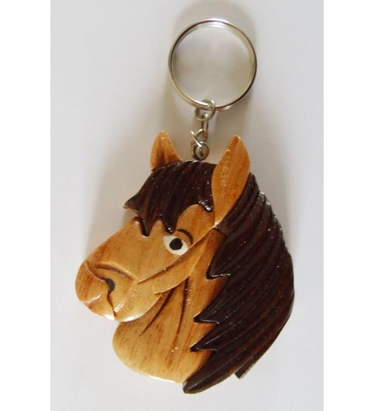 Porte-clés en bois décoratif, Cheval