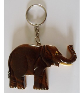 Porte-clés en bois décoratif, Eléphant