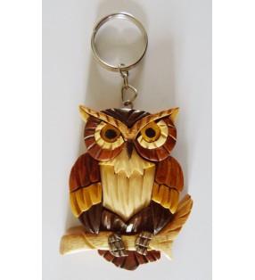 Porte-clés en bois décoratif, Hibou