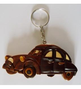 Porte-clés en bois décoratif, Voiture 2 CV