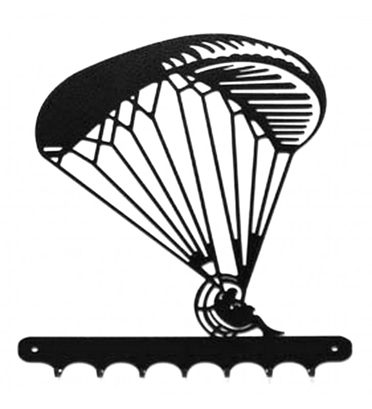 Accroche-clés, décor en métal, Paramoteur