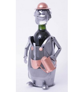 Porte-bouteille original en métal, Jardinier