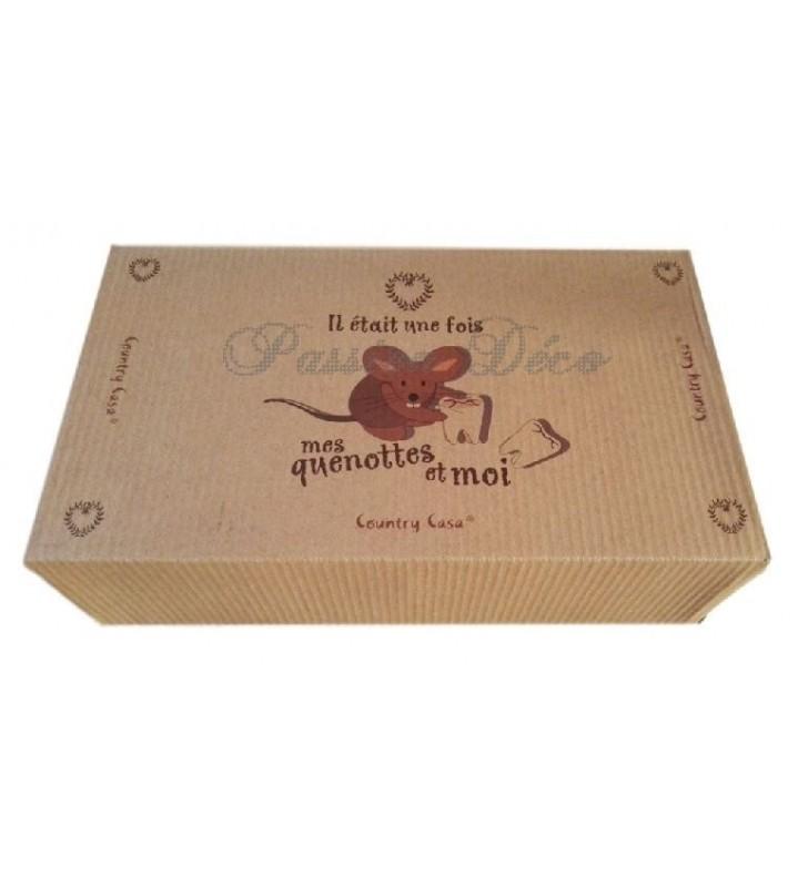 Boîte à dents de lait et empreintes présentée et livrée dans sa jolie boîte kraft